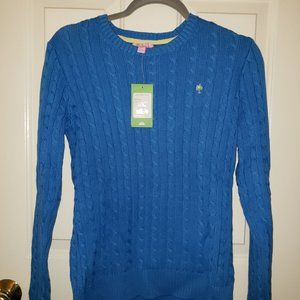Lilly Pulitzer Blue Cableknit Sweater - Size M